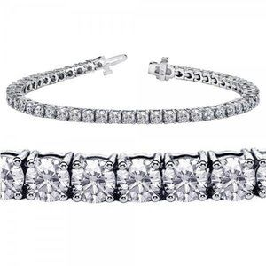 Jewelry - 3.5 ct Four prong setting round diamond tennis bra